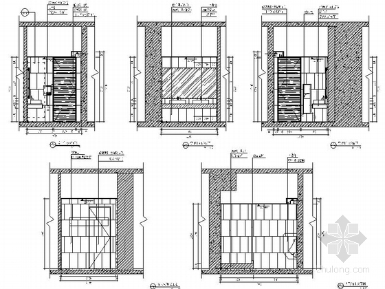 [深圳]高端商务核心区现代科技大厦室内装修图(含效果)卫生间立面图