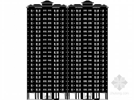 [成都]21层一梯四户拆迁安置房设计施工图(图纸精细 推荐参考)