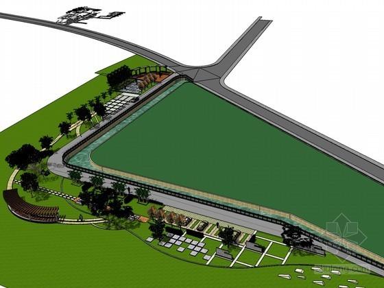 滨河公园SketchUp模型下载