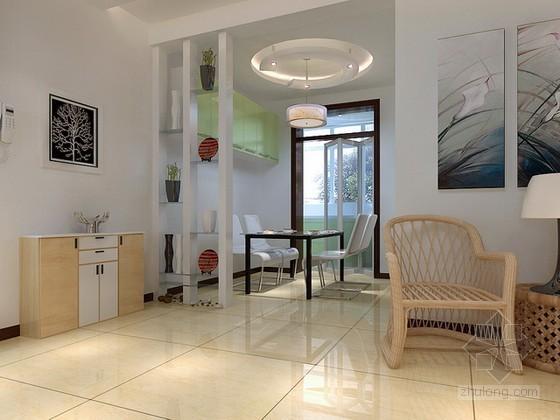 现代简约舒适风格客厅3d模型