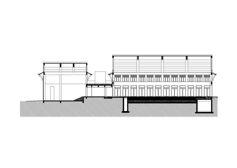 [云南]湿地度假村网球馆建筑扩初图(CAD)
