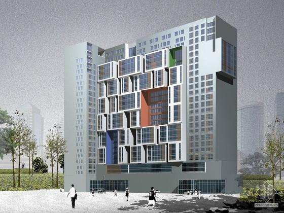 [北京]某漫游城市5号楼建筑方案文本(含效果图)