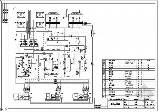 氨泵供液制冷原理图