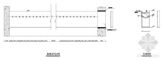 某污水反应池集水槽开孔大样图