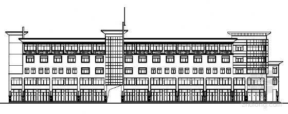 枣庄某五层沿街商业办公建筑方案图