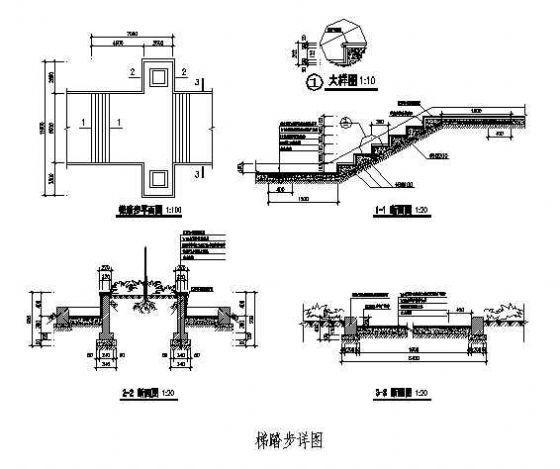 某小区广场踏步详图-4