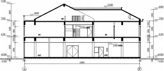 坡屋面带阁楼别墅全套施工图