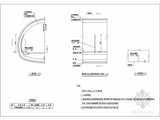 隧道信号系统预留预埋管件设计图