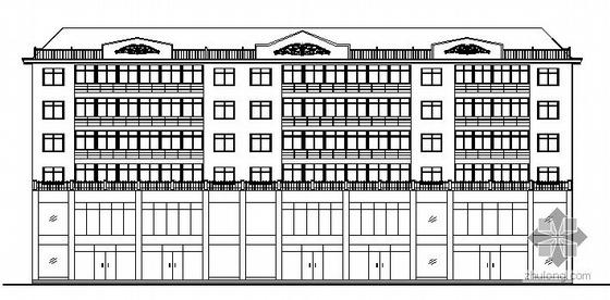 某二层底商六层住宅楼建筑方案图