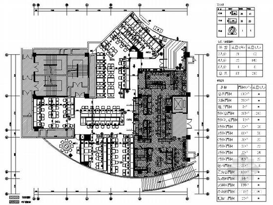 [原创]现代连锁茶餐厅室内装修施工图
