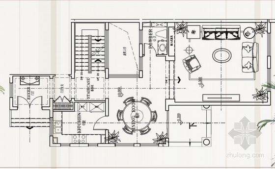 [成都]精品温暖英式风格三层别墅室内装修设计方案