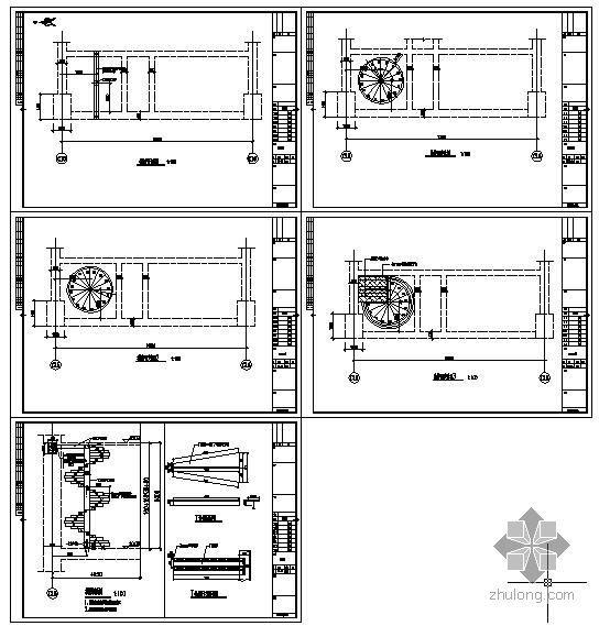 某钢结构旋转楼梯节点构造详图