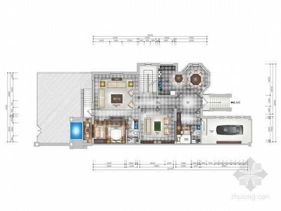 [河北]法式经典双层别墅装饰效果图设计方案