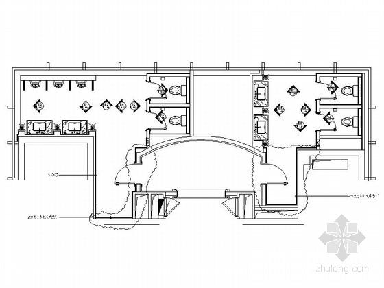 某豪华会所卫生间室内装修施工图