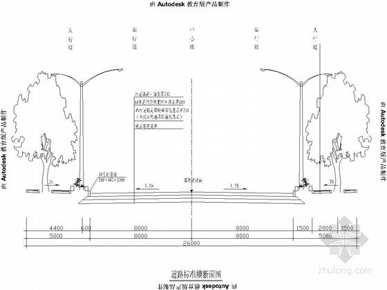 产业园区26m宽道路工程设计套图(26张)