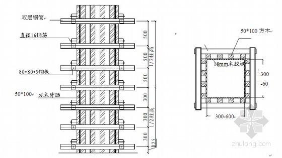 独立柱模板施工技术交底