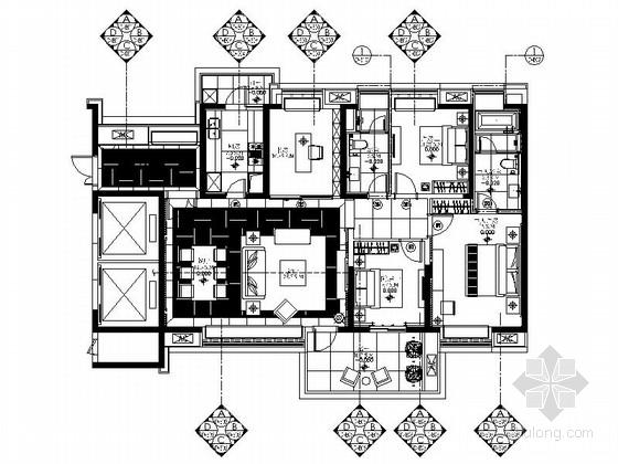 [湖南]长沙精装四居室室内设计装修图
