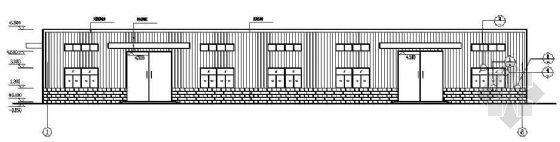 某36M双跨门式钢架单层厂房结构图纸