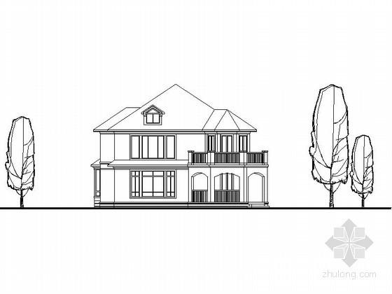 某二层欧式北入户别墅建筑方案(含效果图)