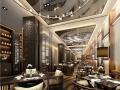 [重庆]现代风格全套酒店空间设计施工图(含效果图+物料表)