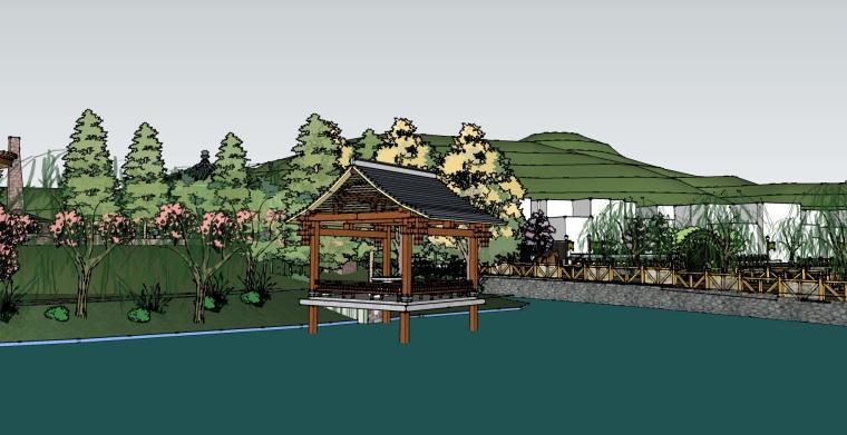 [超棒]美丽乡村公园设计SU模型.skp