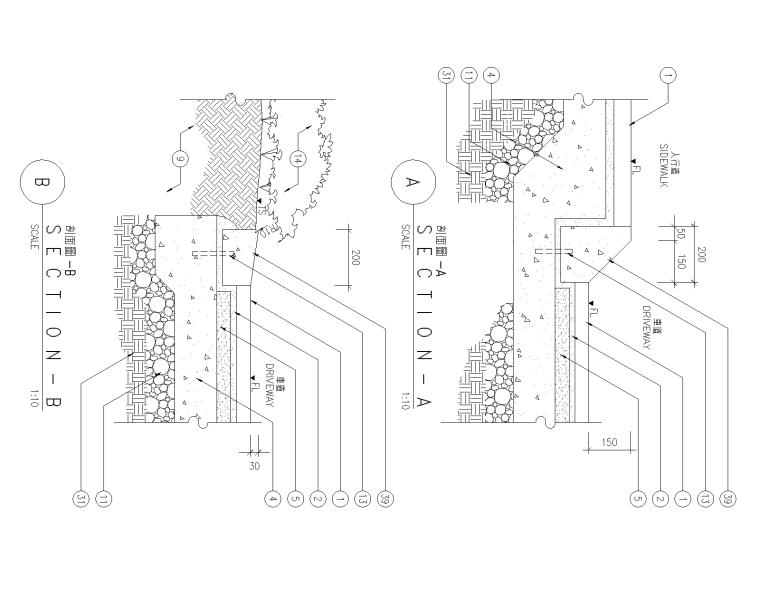 精选路缘侧石设计施工图(25套)-侧石010