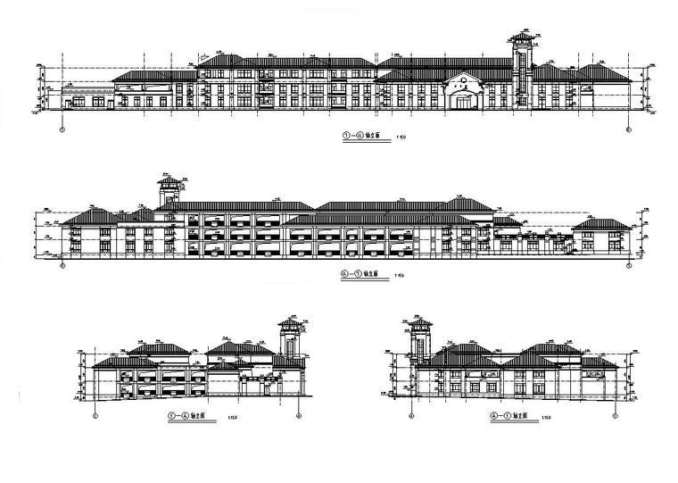 [湖南]十六班碧桂园幼儿园建筑设计(施工图CAD)