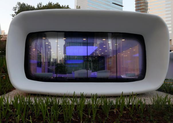 vip室3d模型资料下载-迪拜建造全球首座3D打印办公室