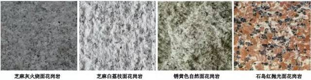 景观石材品种、面层、尺寸整理总结