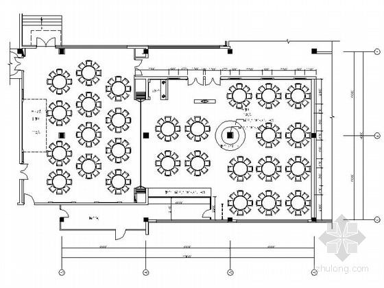 [青岛]五星级酒店新中式中西餐厅装修施工图(含效果)