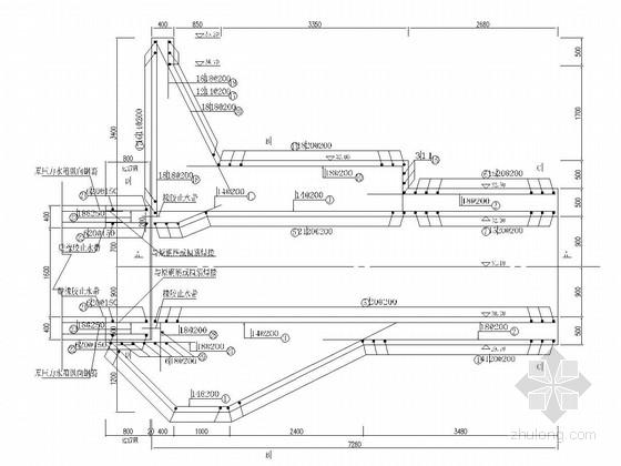 [湖南]堤防加固工程施工图(压力水箱 涵管)