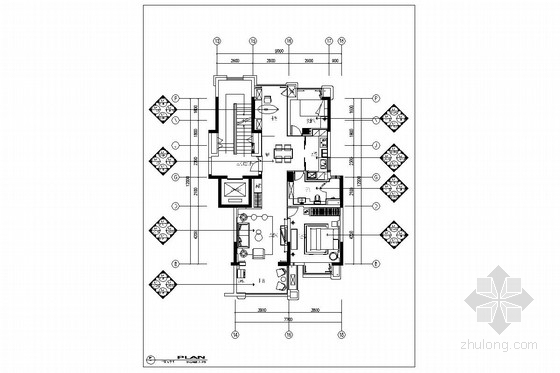 [安徽]繁华商业中心简约现代两居室装修图(含效果及方案PPT)