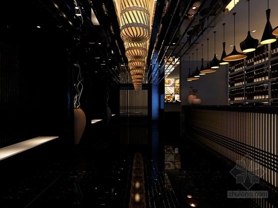 [新疆]时尚新中式连锁餐厅施工图(含效果图)-时尚的新中式连锁餐厅施工图(含效果图)效果图