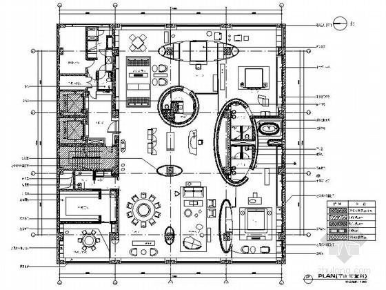[北京]超级豪华的七星公寓室内装修施工图