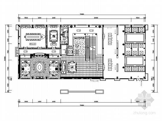 高档时尚现代酒店大堂吧室内装修施工图(含效果图)