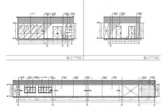 [江苏]省级重点实验中学对外交流中心室施工图 走道立面图