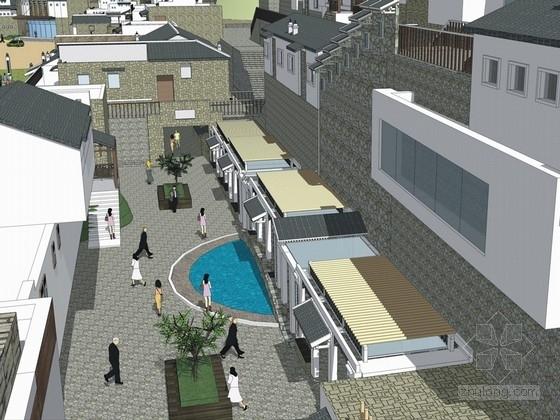 [浙江]山体建筑集散居住区规划设计方案