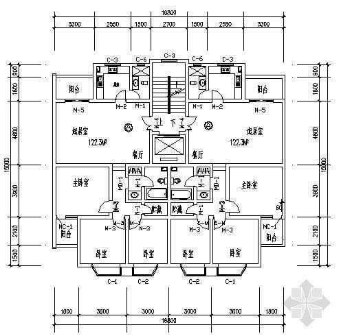 三室两厅一厨一卫121平米