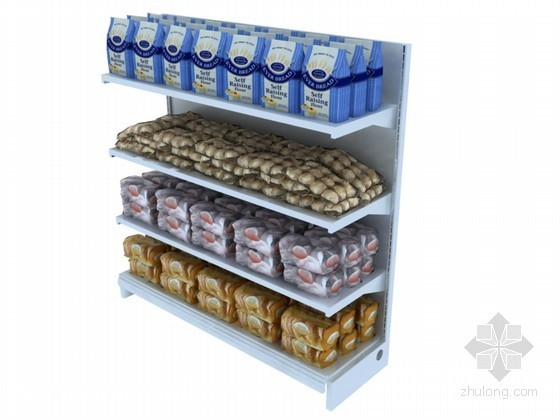 超市货架3D模型下载