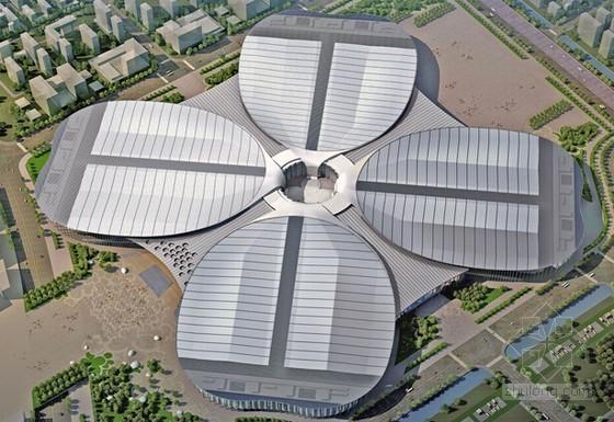 [上海]钢梁桁架结构会展中心工程高支模施工方案