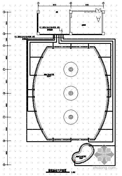 U型景观泳池结构施工图资料下载-某游泳池施工图