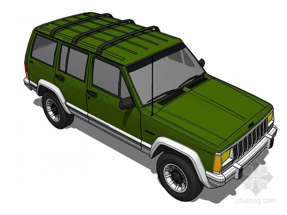 绿色吉普SketchUp模型下载
