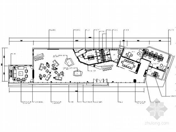 [四川]国际豪华现代售楼处室内装修施工图(含方案效果)