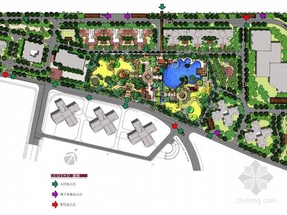 [武汉]英伦风情生态居住区景观概念设计方案