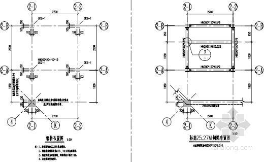 新加7层观光电梯钢骨架结构施工图
