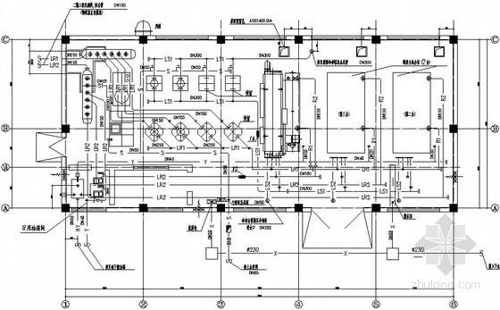 某直燃机房空调设计施工图纸