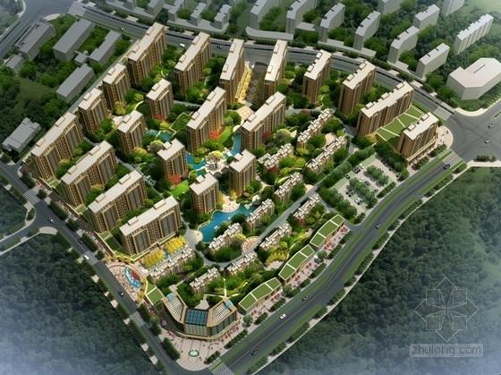[安徽]高层现代风格住宅区规划及沿街商业设计方案文本(含CAD)