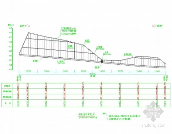 [重庆]锚喷及肋柱式锚杆挡墙边坡支护初步设计图