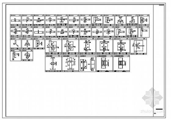 某钢框架标准焊缝节点构造详图