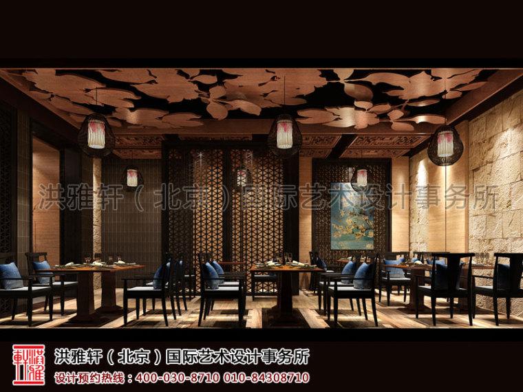 北京长楹天街新中式餐厅装修_4